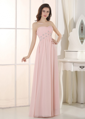 Romantic Chiffon Sweetheart Neckline A-Line Prom/ Bridesmaid Dresses