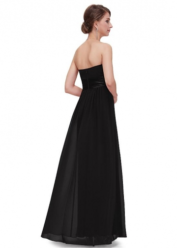 Charming Chiffon Strapless Neckline A-line Prom / Bridesmaid Dresses With Pleats