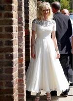 Chic Chiffon Bateau Neckline Ankle-length A-line Wedding Dresses