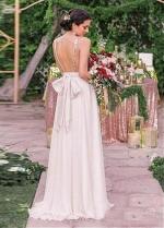 Beautiful Sequin & Chiffon V-neck Neckline Floor-length A-line Bridesmaid Dresses