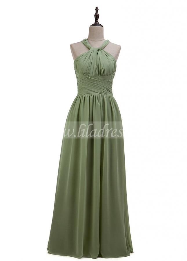 Fashionable Chiffon Convertible A-line Bridesmaid Dress