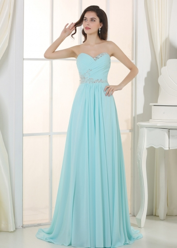 Charming Chiffon & Stretch Satin Sweetheart Neckline A-Line Prom / Bridesmaid Dressses