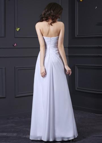 Elegant Chiffon Sweetheart Neckline Sheath Prom Dresses