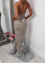 Brilliant Tulle Spaghetti Straps Neckline Sheath/Column Prom Dresses