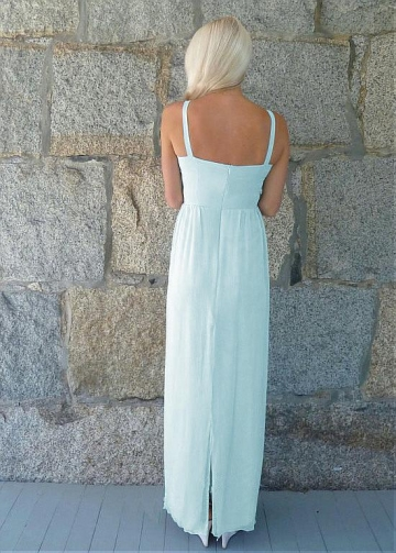 Wonderful Chiffon Spaghetti Straps Neckline Full-length A-line Bridesmaid Dresses