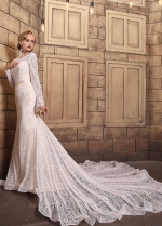 Gorgeous Lace Scoop Neckline Mermaid Wedding Dresses