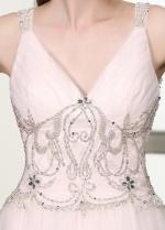 Chic Tulle V-neck Neckline A-line Wedding Dresses
