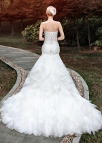 Gorgeous Organza Sweetheart Neckline Ruffled Mermaid Wedding Dresses