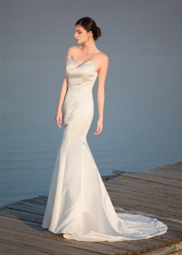 Elegant Satin Sweetheart Neckline Mermaid Wedding Dresses