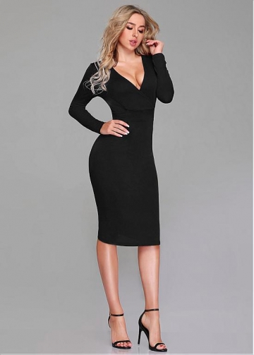 Elegant V-neck Neckline Sheath/Column Homecoming Dresses