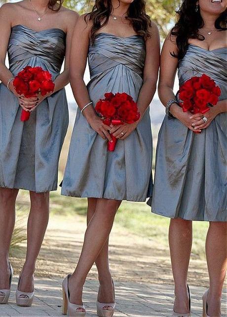 Glamorous Taffeta Sweetheart Neckline A-line Bridesmaid Dresses