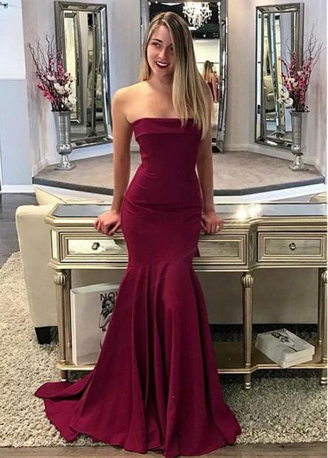 Gorgeous Strapless Neckline Mermaid Evening Dress