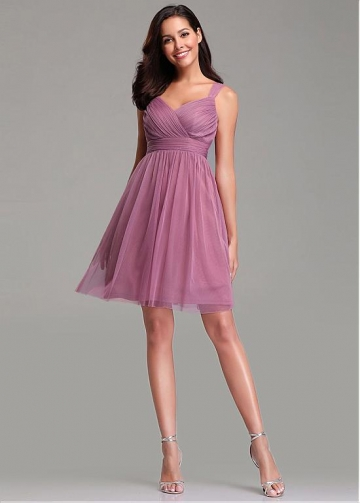 Beautiful V-neck Neckline A-line Bridesmaid Dresses
