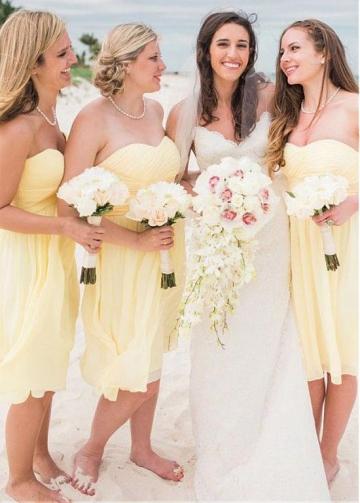 Stunning Chiffon Sweetheart Neckline A-line Bridesmaid Dresses