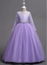 Lovely Lace & Tulle Jewel Neckline A-line Flower Girl Dress With Beadings