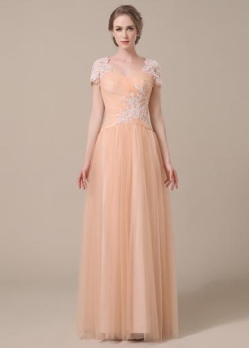 Elegant Tulle Sweetheart Neckline A-line Mother of The Bride Dresses