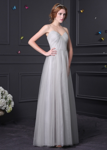 Elegant Tulle Sweetheart Neckline A-line Bridesmaid Dress
