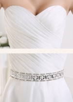 Sweetheart Strapless Hi-lo Wedding Dress With Beaded Belt