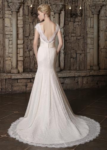 Marvelous Lace V-neck Neckline Mermaid Wedding Dresses