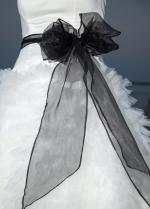 Fabulous Satin & Tulle Strapless Neckline A-line Wedding Dresses