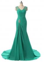 Stunning Chiffon Mermaid Simple Evening / Mother Dresses