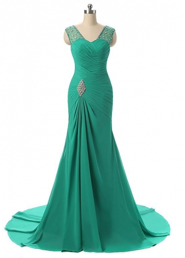 Stunning Chiffon Mermaid Simple Evening / Mother Dresses