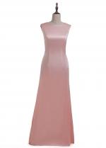 Fantastic Chiffon Jewel Neckline Sheath Kaftan Evening Dress With Lace Appliques & Beadings