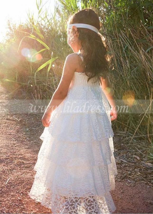 Pretty Lace Sweetheart Neckline A-line Flower Girl Dresses