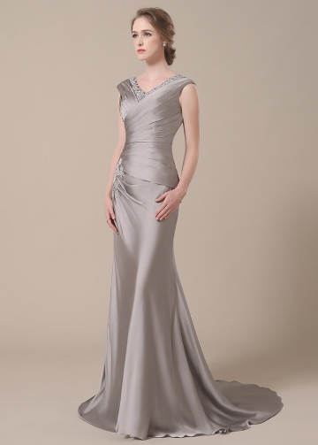 Elegant V-neck Neckline Mermaid Mother of The Bride Dresses