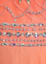 Elegant Chiffon Halter Neckline A-line Prom Dresses With Beadings & Rhinestones