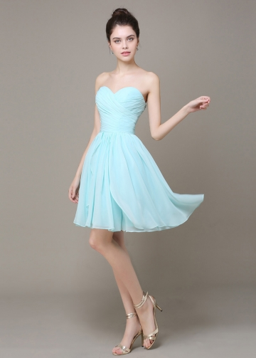 Lovely Chiffon Sweetheart Neckline Short A-line Bridesmaid Dress