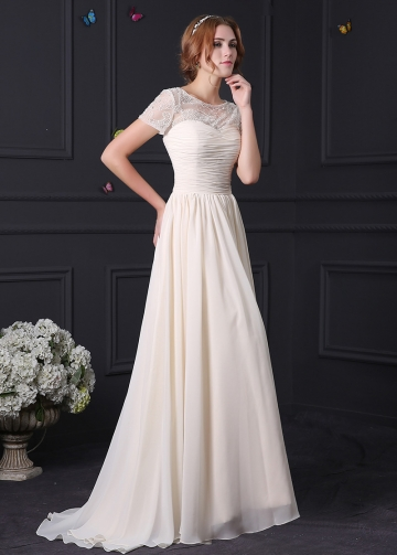 Elegant Chiffon Bateau Neckline A-line Mother of the Bride Dress