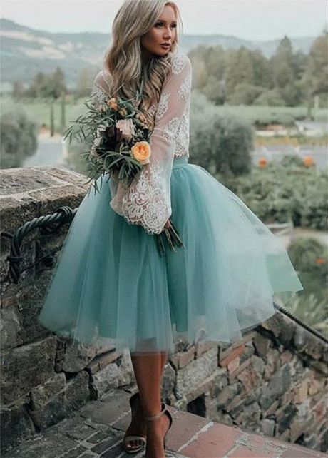 Fantastic Lace & Tulle Jewel Neckline Tea-length Ball Gown Homecoming Dresses