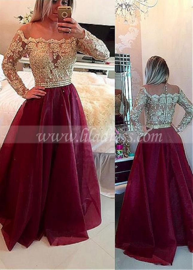Brilliant Tulle & Organza Square Neckline A-line Prom Dresses With Lace Appliques & Beadings & Rhinestones