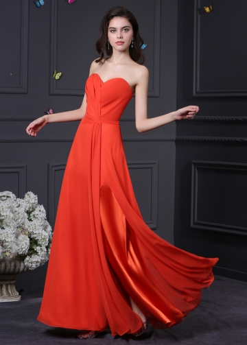 Gorgeous Chiffon Sweetheart Neckline A-Line Prom Dresses