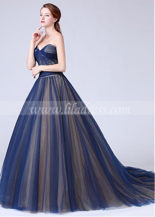Fantastic Tulle Sweetheart Neckline Ball Gown Quinceanera Dress With Pleats