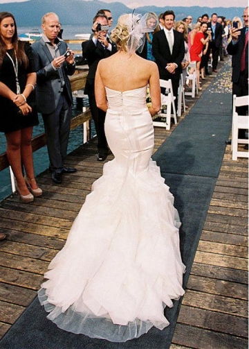 Gorgeous Sweetheart Neckline Mermaid Wedding Dresses With Beadings