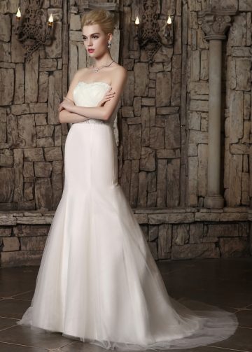 Alluring Tulle Sweetheart Neckline Mermaid Wedding Dresses