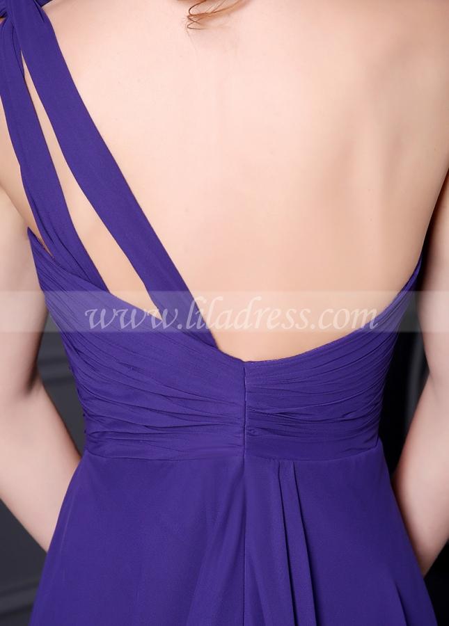 Elegant Chiffon One Shoulder Neckline A-line Bridesmaid Dress
