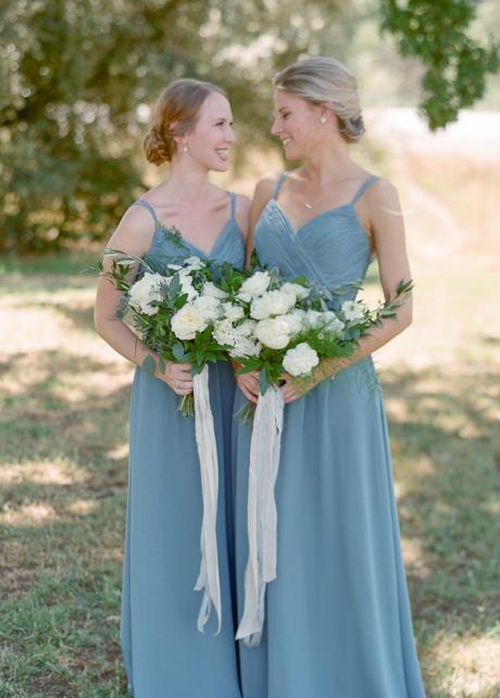 A-line Bridesmaid Wedding Guest Dress with Crisscross Straps vestido de festa de casamento