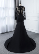 Fantastic Stretch Satin Jewel Neckline Mermaid Evening Dress With Detachable Jacket