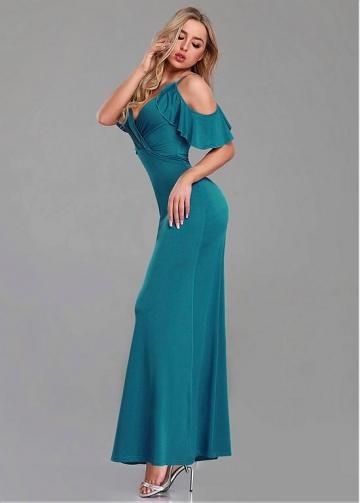 Brilliant Spaghetti Straps Neckline Sheath/Column Evening Dresses