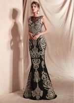Fabulous Bateau Neckline Floor-length Mermaid Dresses With Embroidery