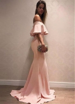 Alluring Off-the-shoulder Neckline Floor-length Mermaid Evening Dresses
