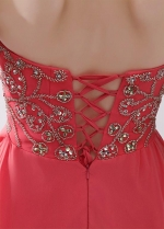 Brilliant Chiffon Sweetheart Neckline A-line Homecoming / Sweet 16 Dresses With Beadings