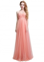 Popular Tulle Sweetheart Neckline Convertible A-line Bridesmaid Dresses With Pleats