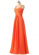 Charming Chiffon Sweetheart Neckline A-Line Prom / Bridesmaid Dresses