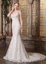 Amazing Lace Sweetheart Neckline Mermaid Wedding Dresses With Detachable Straps