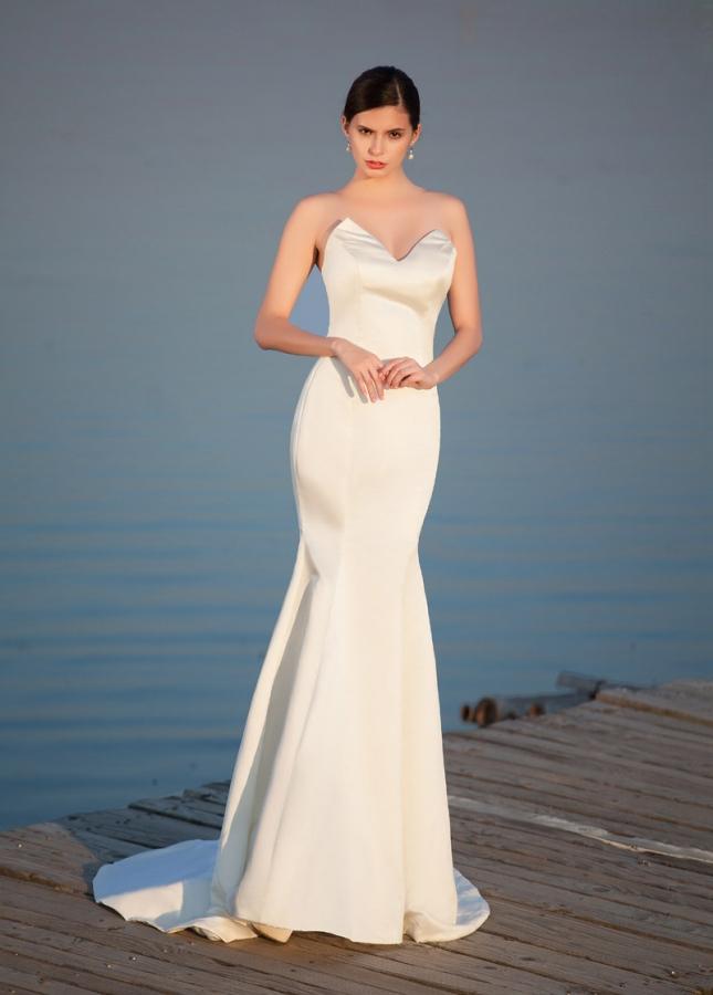 Elegant Satin Sweetheart Neckline Mermaid Wedding Dresses