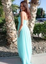 Backless Chiffon Bridesmaid Dress for Beach Wedding
